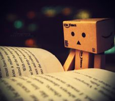 Danbo reading by Imaginary-Night