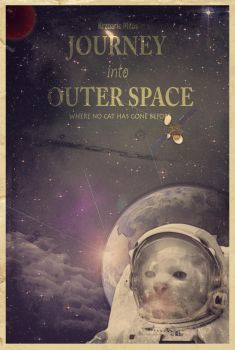 Spacecat Poster by MikiArTT