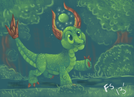 Green Dragon by FeatheredSoap
