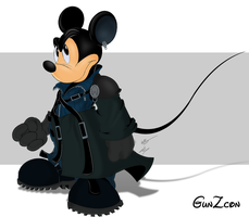 Mickey Mouse Advent Children by GunZcon