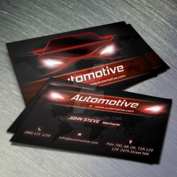 Automotive Business Card Red Color by Oksrider