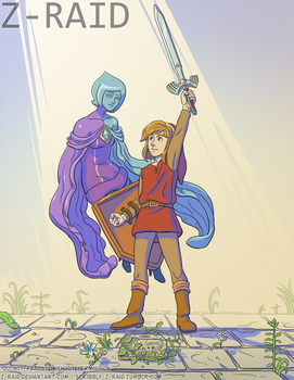 Commission: Pulling the Sword from the Pedestal by Z-Raid