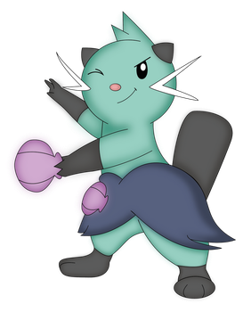 Shiny Dewott by NIGHTSandTAILSFAN