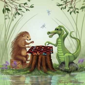 Checkers in Pickle Toe Swamp by WilderRose