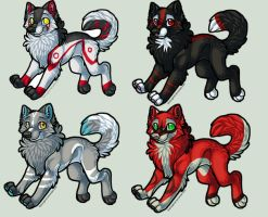 Wolf Adopts 2- Breedables by Fells-Adopts