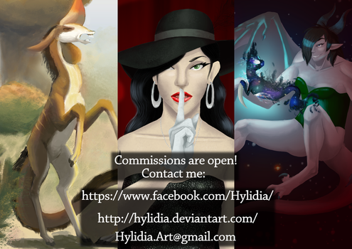 Commissions are open! by hylidia