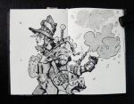 Sketch: Joy and  backpack of new ideas. by Nieris