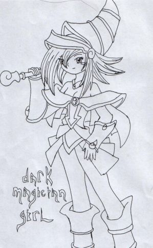dark magician girl coloring pages - photo#27