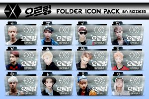 EXO Growl Folder Icon Pack by Rizzie23
