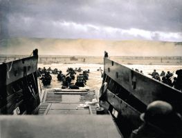 D-Day at Omaha Beach 1944 by thenuke