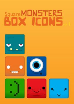 Monsters Pack Vol 1 Dock Icons by xhe92