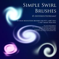 Simple Swirl Brushes by differentxdreamz