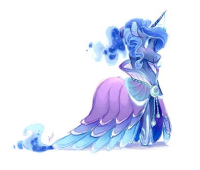 Princess Luna by LongMuzzlePony