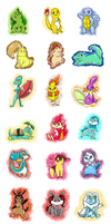 All Generation shiny Starter Pokemon by PlatinaSena