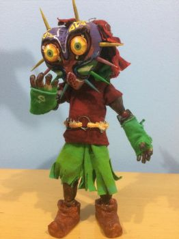Majora's Mak Skull Kid Pose 2 with the mask on by Tomistral
