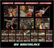 Christie Adidas Workout Costume by BrutalAce
