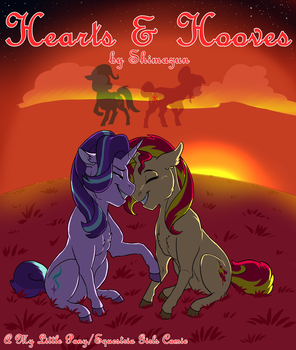'Hearts and Hooves' - MLP/EQG Comic Cover by Shimazun