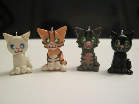 Cat charms, group 1 by Blazesnbreezes