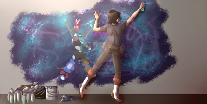 New York Paladins AU - Spray Paint The Pain Away by MarkSepticPie42