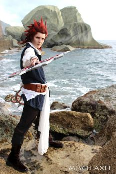 Axel cosplay Kingdom Hearts -makeup video tutorial by MischievousBoyAilime