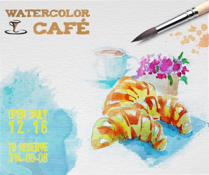 My flier with my Watercolor by Pamplemuss