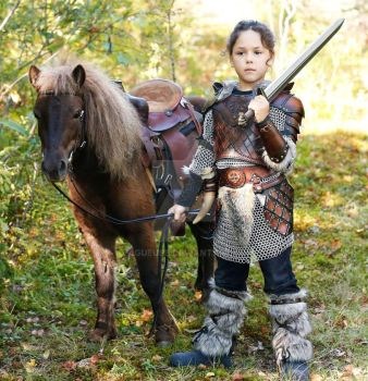 kid leather armor viking by Lagueuse