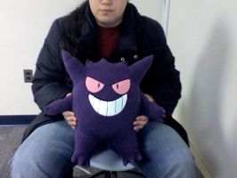 Giant Gengar plushie by ShadowStanEnvy