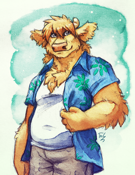 Jonathan's new shirt by TasDraws