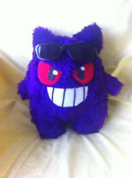 Fluffy Gengar for a friend! by PlushQueenDIY
