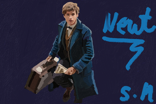 Newt scamander by FLASHER12