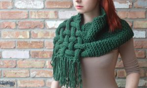 Knit, woven scarf (OC) by Tessa4244