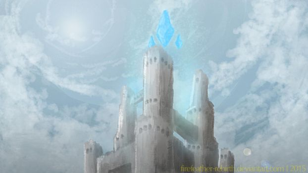 The Crystal Towers by FireFeather-Rebirth
