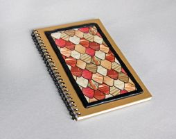 Wood Grain Guitar Pick Journal by Madelei