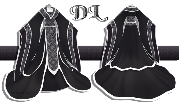 .:: MMD - Black Hanfu DOWNLOAD ::. by AneCoco