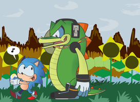 Sonic and Vector by Vectormuffin