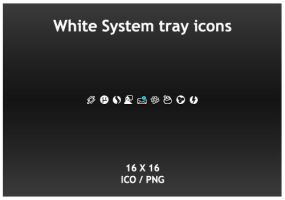 White System Tray icons by KillboxGraphics