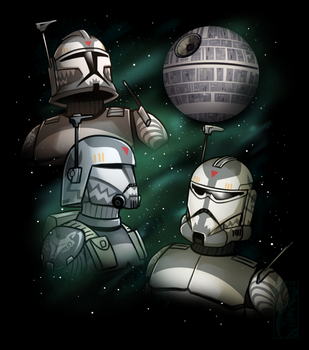 Three Wolffe That's No Moon by Deer-Head