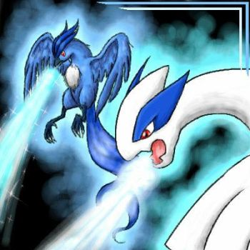 Lugia and Articuno by DRagonka