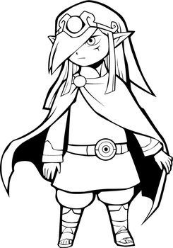 Lineartstobecolored jet deviantart for Midna coloring pages