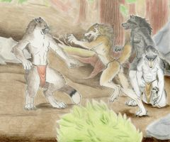 Protecting the Future of the Pack by Timber-Wolf-Spirit