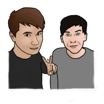Dan and Phil In Japhan by MaxxJacks