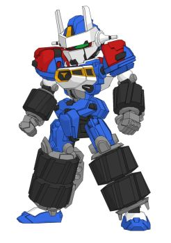 SD Gear Fighter Dendoh Free Robot Paper Model by PaperCraftSquare
