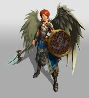 Young Valkyrie by Beaver-Skin