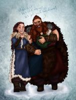 Stoick and Valka by calmdownchristina