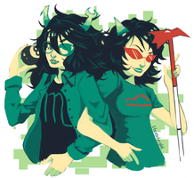 Scourge Sisters by ccarronilyptic