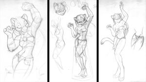 Cat Dancer - concept sketches by Ponygir1
