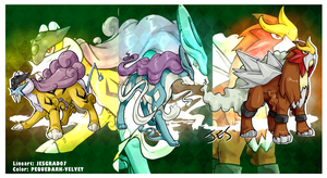 Pokemon Fanart .: Legendary Beasts:.