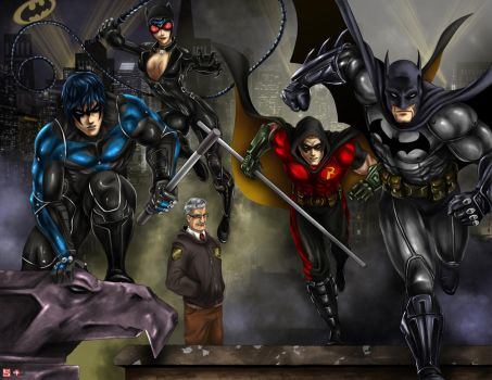Batman Arkham City Collaboration by TyrineCarver