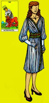 Tarot Fashion: Strength by golddew