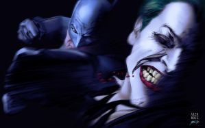 Batman vs. the Joker - colors by gabcontreras